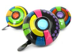 Hippie Bike Bell Bike Accessories Bicycle Bell Psychedelic Flowers