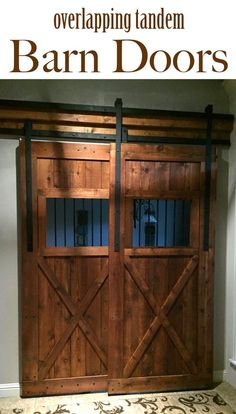 Get this full tutorial on how to make tandem barn doors for your own home!