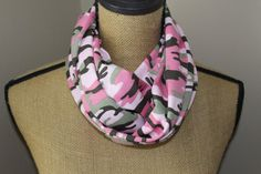 Camo Infinity Scarve  Pink Camoflauge Scarf  Loop by UrbanScarfs