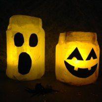 Halloween craft: Pumpkin Night Lights