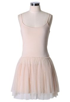 Pearl Ballet Tulle Dress in Nude - Party - Dress - Retro, Indie and Unique Fashion