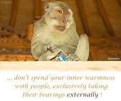 ... don't spend your inner #warmness with #people, exclusively taking their #bearings externally !