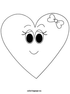 Heart coloring pages for girls girl face page woman with shaped of Cartoon Drawings Of People, Sketches Of People, Cartoon Girl Drawing, Disney Drawings, Girl Cartoon, Drawing People, Heart Coloring Pages, Coloring Pages For Girls, Cartoon Heart
