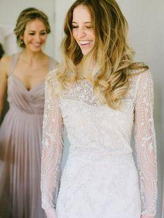 Long Sleeved Wedding Dresses: Real Brides in Hot Sleeved Dresses » KnotsVilla