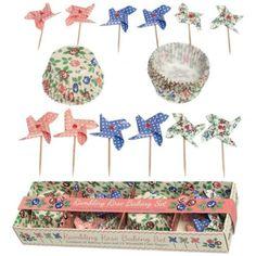 Set roses des vents pour cupcakes - La Folle Adresse