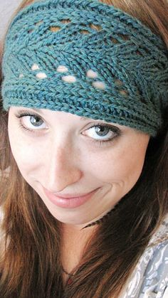 DONE- Lacy Knitted Headband!