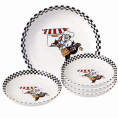 5 Piece Porcelain Pasta Set Chef Design by Loren Home Trends #LorrenHomeTrends