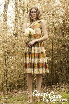 Amazing one shoulder vintage dress.