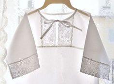 Крестильные принадлежности ручной работы. Ярмарка Мастеров - ручная работа. Купить Крестильная рубашка. Handmade. Белый, крестильный комплект