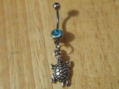 Turtle Belly Button Ring, Belly Button Piercing, Turtle Charm | ChelseaJewels - Jewelry on ArtFire