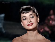 Audrey Hepburn.  Makeup styling inspiration. Old world hollywood starlet.  Defined eyebrows, winged cat eyes. bold lips. sculpted cheeks
