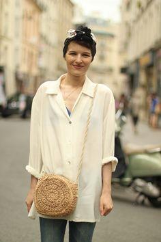 #ladymoriarty #whiteshirt #slim #denim #heels #vintage  #mode #moda #women #paris #look #streetstyle #streetview #street #style #offcatwalk on #sophiemhabille