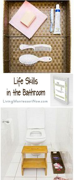Simple ideas for teaching care of self in the bathroom from The Parenting 5: Practical and Independent Little People