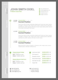 Minimal Resume Template P  Ocane