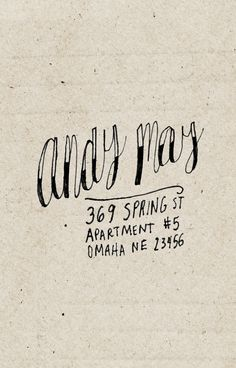 cool handwriting - custom return address label - hand drawn personalized name & address - via Etsy.
