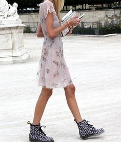 I should have been born during the grunge era... absolutely adore the modern take and the combat boots and sundress combo!