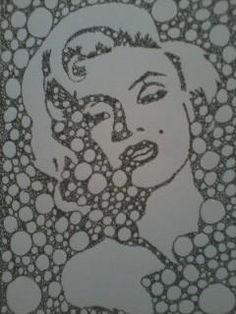Marilyn Monroe Fractal Art