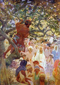 Zaqueo en el árbol de los sicómoros William Hole
