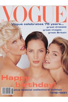 Vogue Cover, June 1991