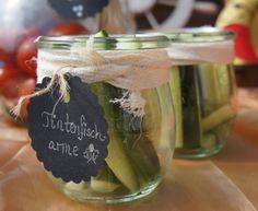 Piraten Party, pirate party, Tintenfischarme Gurke, squid legs, Food Design, Essen Dekoration