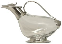 Duck, Pewter and Crystal Decanter (Bottle) - Duck Decanters and Carafes are becoming increasingly more fashionable.