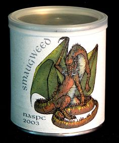2003 HOBBIT Collectible Tobacco Tin SMAUGWEED Pipe Weed Pease SEALED 2 oz OOP