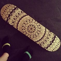 mandala skateboard wood my new favorite piece - Skateboard Design Ideas