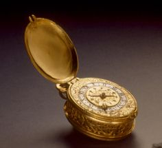 Oval Pendant Watch / c. 1625 / Matthaus Buschmann / designed to be worn around the neck or in a pouch at the waist