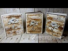 cardmaking video tutorial: Sepia watercolor ...  modern vintage look ... by France Martin ...