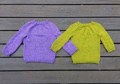 Kuva 1/3. Simppelin neulepaidan juju on mehukkaan värinen lanka.