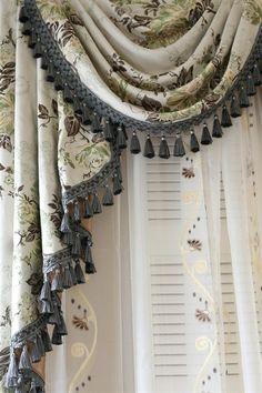 Celuce. Appalachian Spring swag valance curtains
