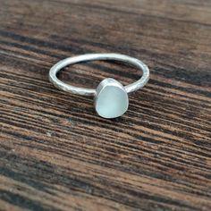 Sea glass ring Cornish seaglass engagement ring sea glass