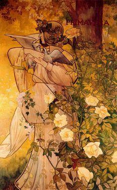 Alexandre de Riquer -Plafons decoratius de les quatre estacions primavera
