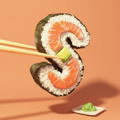 Daily Dose of Inspiration 110 - Illustration - character Design - motion graphic - typography -Graphic Design Inspiration L'art Du Sushi, Arte Do Sushi, Sushi Fish, Bike Illustration, Botanical Illustration, Alphabet 3d, Sushi Drawing, Pintura Hippie, Interactive Web Design