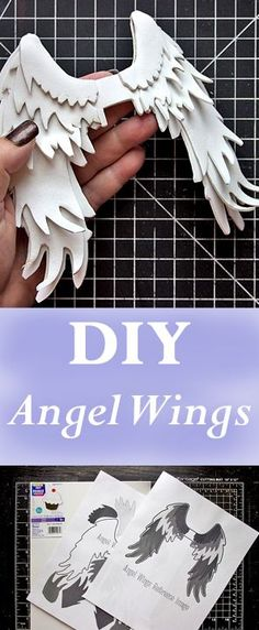 DIY Angel Wings by Heather Tracy for The Graphics Fairy! Such a great technique for crafting!