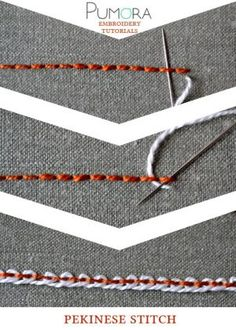 pekinese stitch tutorial