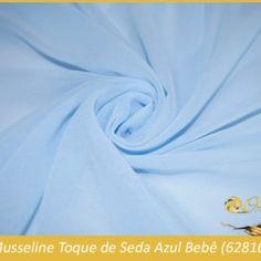 TECIDO MUSSELINE TOQUE DE SEDA AZUL BEBE (62816) Panda Store, Toque, Casual, Baby Blue, Party Fashion, Tejidos, Fiestas, Silk