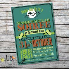 Spooktacular Soiree Halloween Party Invitation - Printable DIY - Customized