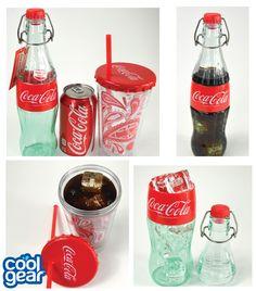 Classically Coke! -16 oz Coca Cola Swing Top Bottle -16 oz Chiller With Coke Bottle Cap Lid