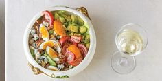 How to Pair Cobb Salad with California Chardonnay Fruit Salad, Cobb Salad, Wine Enthusiast Magazine, Pork Chops, Dinner Recipes, Pasta, California, Food, Fruit Salads
