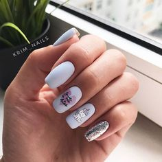 30 Eye-Catching Silver Nails Looking for silver nail ideas? From Metallic to stripes to glitter nails, discover your favorite silver nail art with our list of the top 30 silver nail designs Silver Nails, Pink Nails, Gel Nails, Nail Polish, Glitter Nails, Acrylic Nails, Silver Nail Designs, Cute Nail Art Designs, Cute Nails