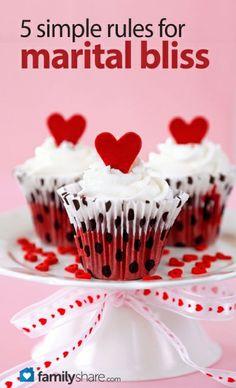 FamilyShare.com | 5 simple rules for marital bliss #marriage #love #romance