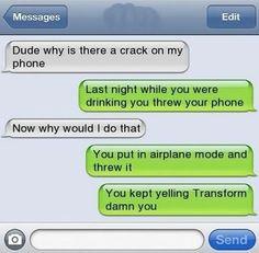 Drunk SMS