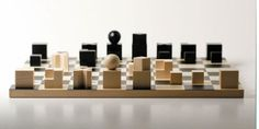One of the core principles of the Bauhaus was good design priced for the everyman.  I don't know that 342.00 for a set of chess pieces quite hits that mark, but I still surely adore the design of the set.