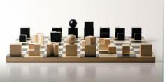 wooden chess swissmade (Bauhaus replica) designed by Josef Hartwig 1923 via Naef