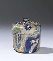 This pyxis is exemplary of elite Roman glassware, ca. late 1st century BC. Walters Art Museum, Baltimore.