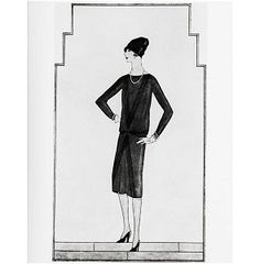 "Gabrielle Chanel , little, black dress, Chanel's ""ford"", 1926"