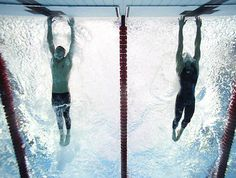 Michael Phelps' photo finish victory over Serbia's Milorad Cavic at the 2008 Beijing Olympics