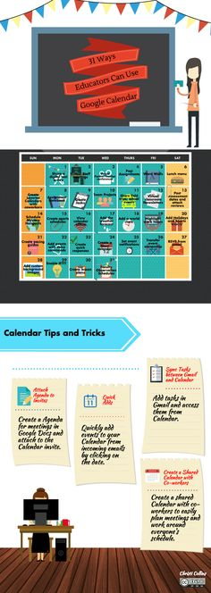 By Far My Fave Pin Today! 31 Ways Educators Can Use Google Calendar by Christi Collins