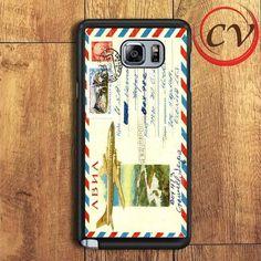 Vintage Airmail Envelope Samsung Galaxy Note 5 Case